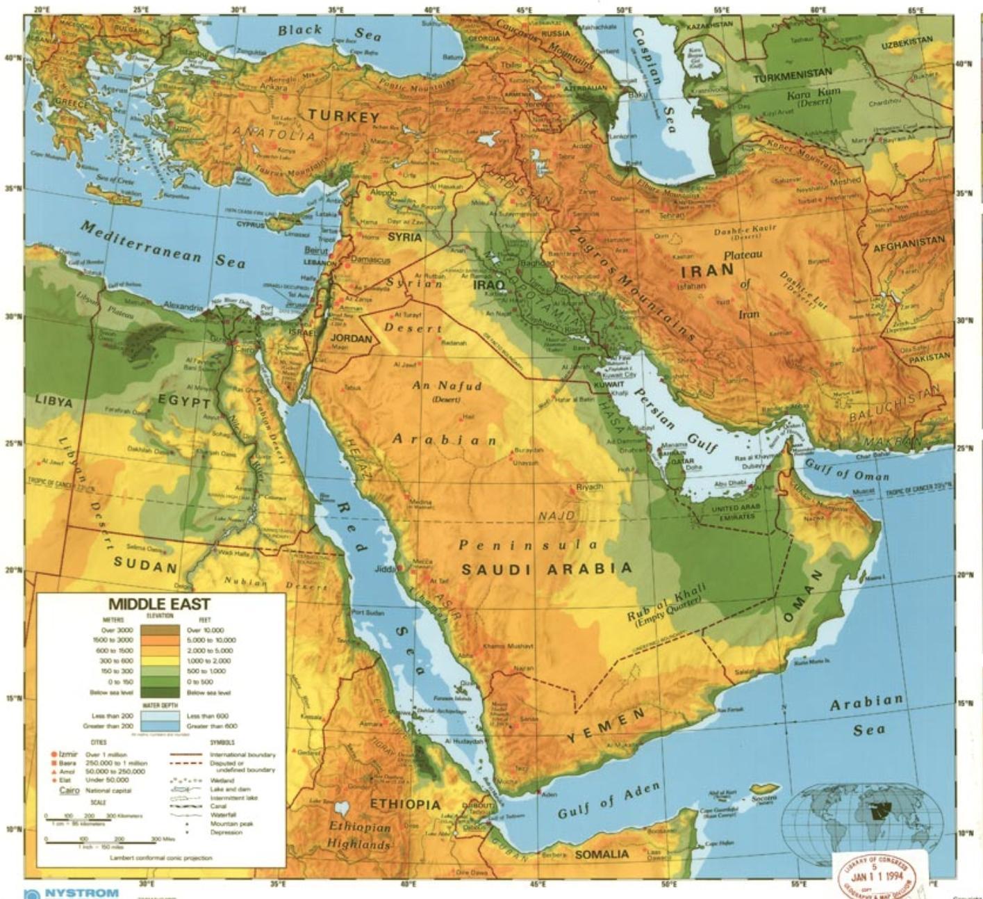 Saudi Arabiens Orken Kort Kort Over Saudi Arabiens Orken Det