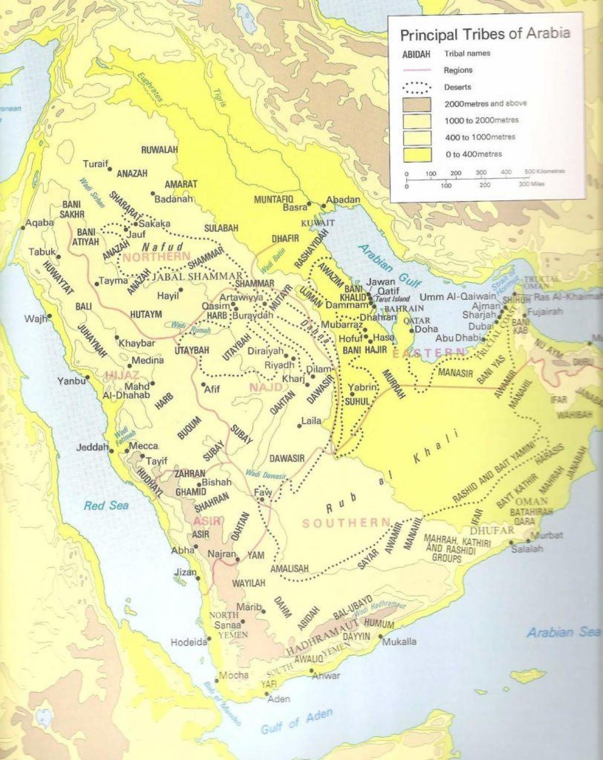 Saudi Arabien Stammer Kort Kort Over Saudi Arabien Stammer Det