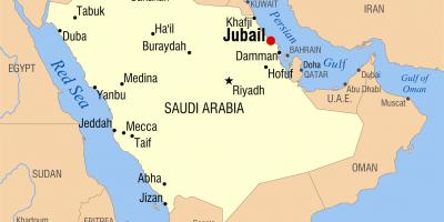 Saudi Arabien Ksa Kort Kort Saudi Arabien Ksa Det Vestlige